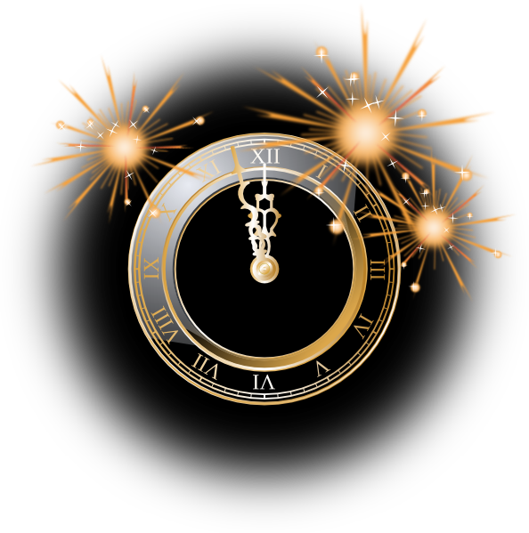 Years clip art at. Clock clipart new year's eve