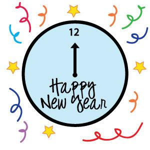 Clock clipart new year's eve. Free years holiday tags