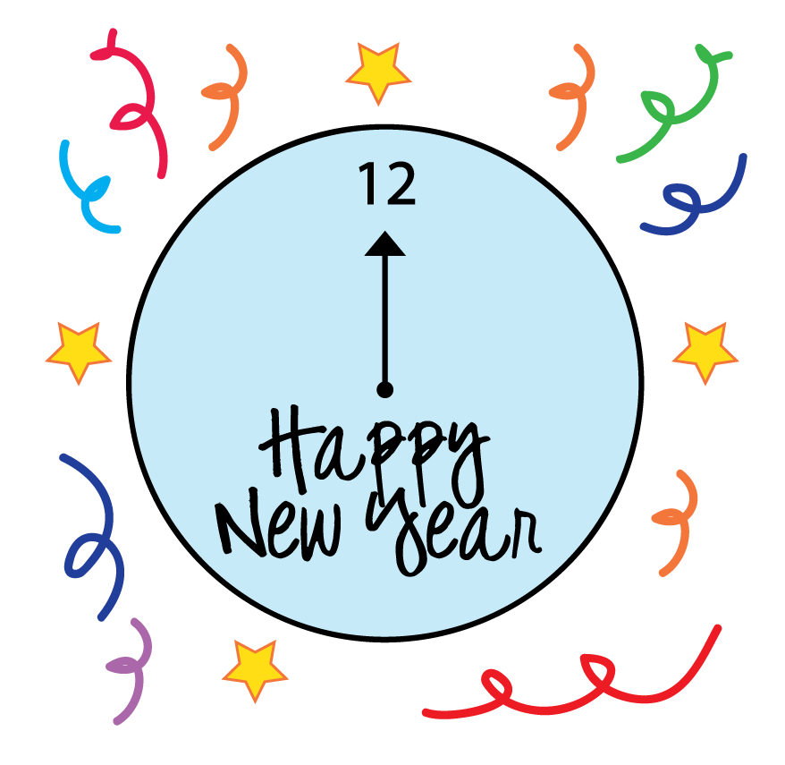 Clock clipart new year's eve. Year clip art hd