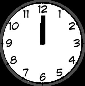 Grey clip art at. Clock clipart noon