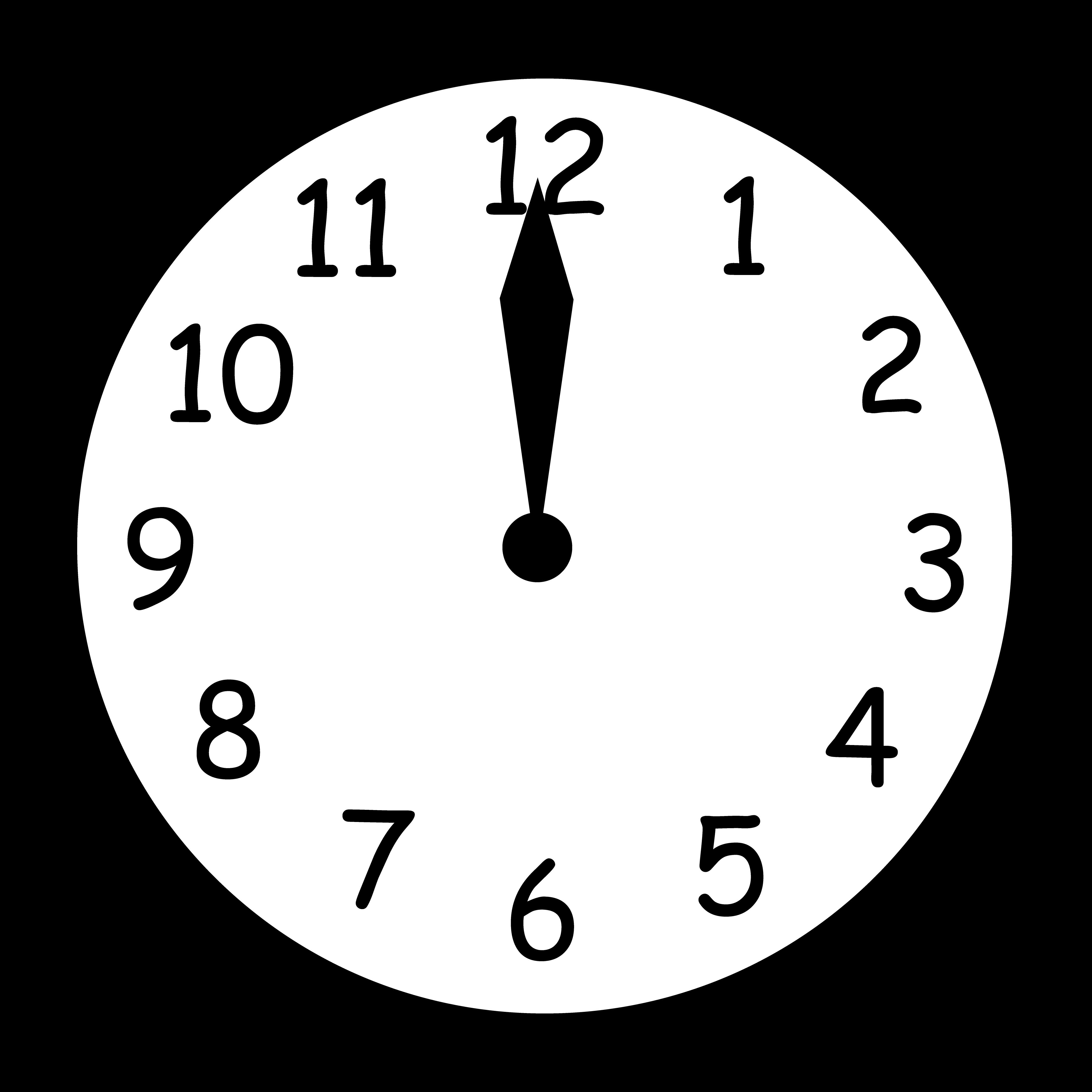 Clock clipart noon. Twelve free image