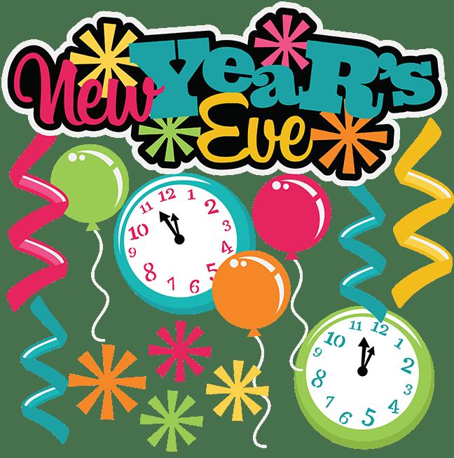 Clock clipart nye. New years eve year