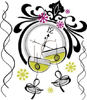 Pinterest . Clocks clipart nye