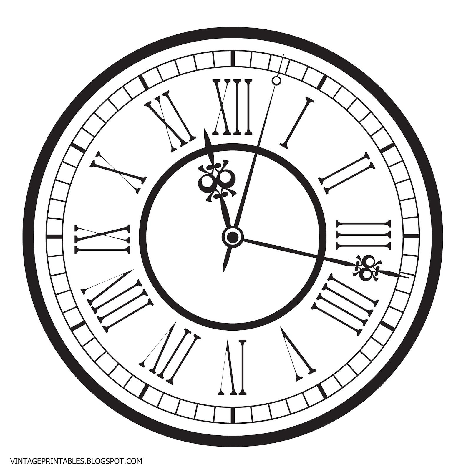 Free vintage clip art. Clocks clipart old fashioned