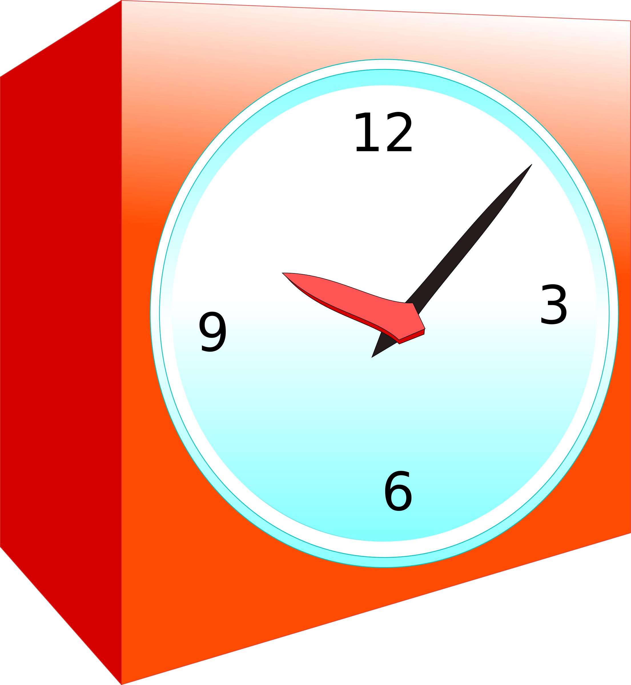 Analog alarm big image. Clipart clock orange