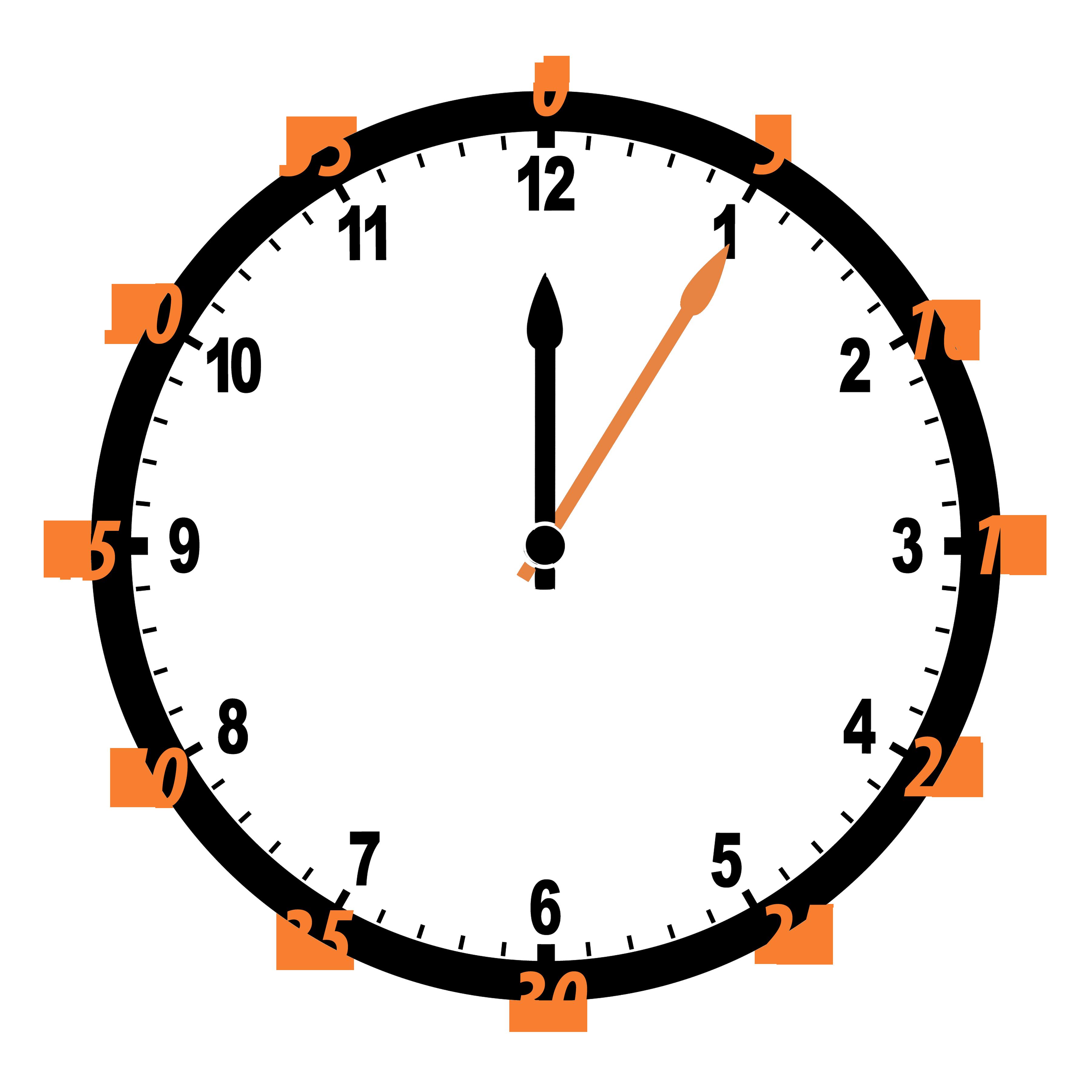 Telling time st grade. Clipart clock orange