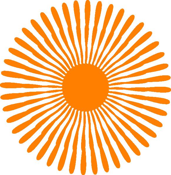 Clipart clock orange. Flower clip art at