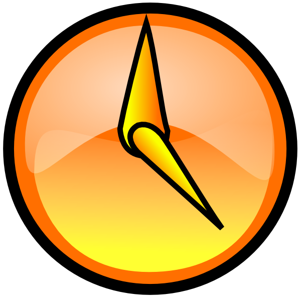 Clock clipart orange. Clip art at clker