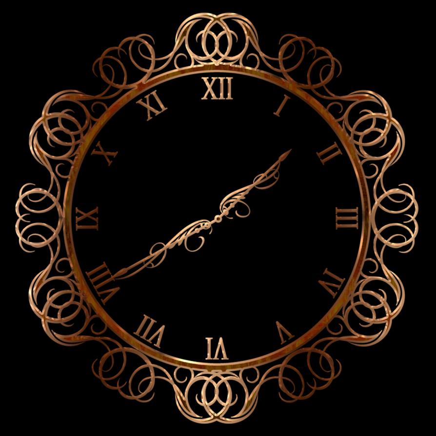 Decorative wall by lyotta. Clock clipart oval