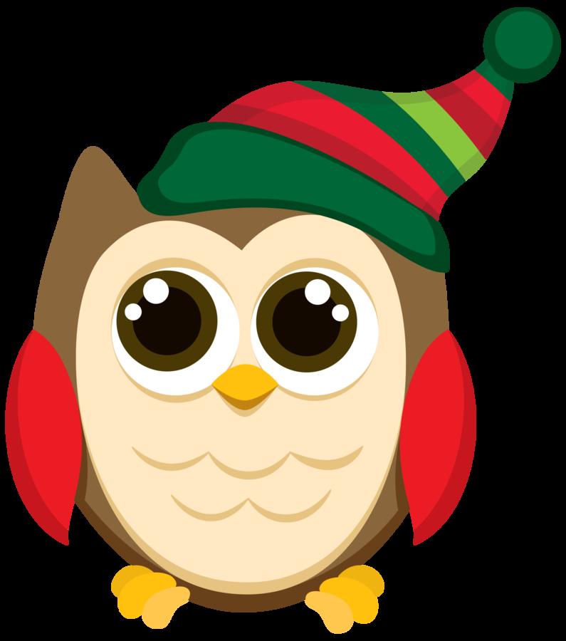 Owls owl clip art. Clocks clipart christmas