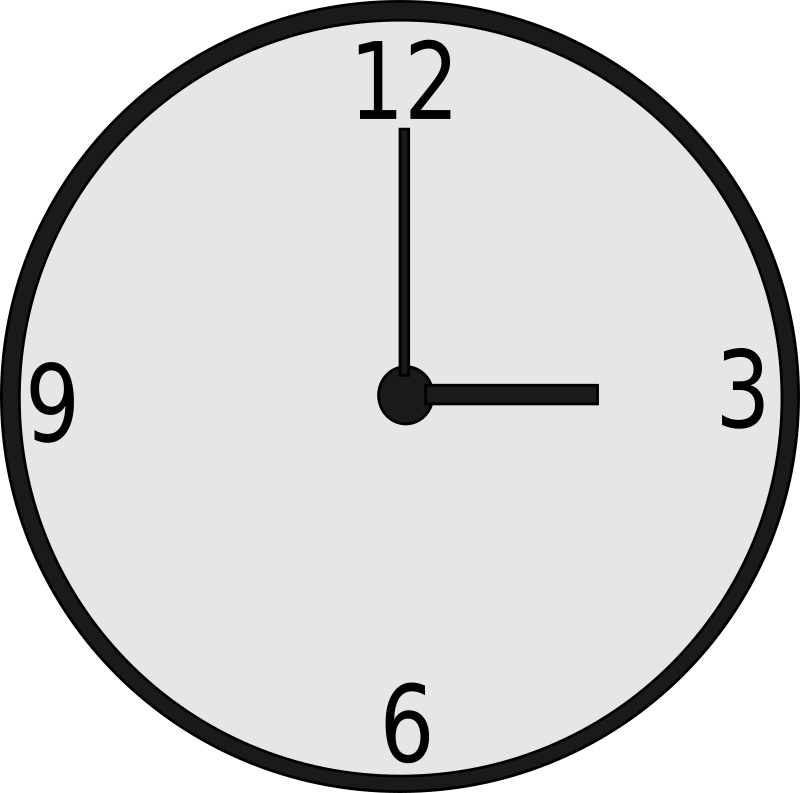 Clock medium image png. Clocks clipart plain