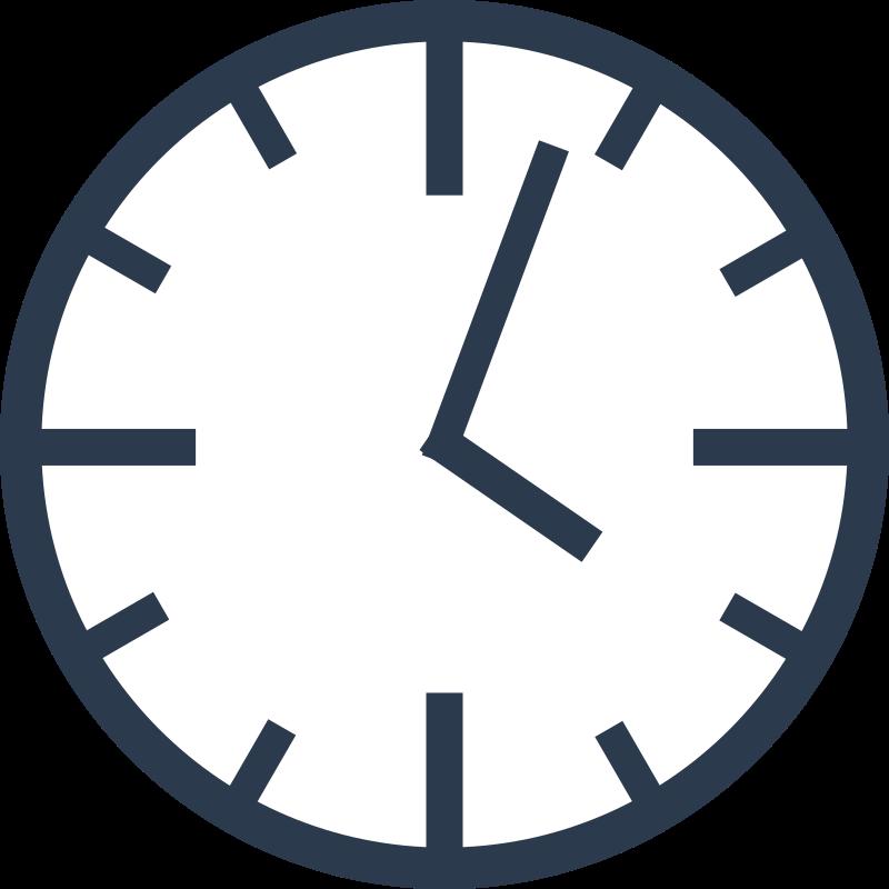 Simple medium image png. Clock clipart blue