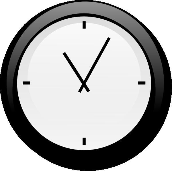 Clock clipart oval. No second hand clip