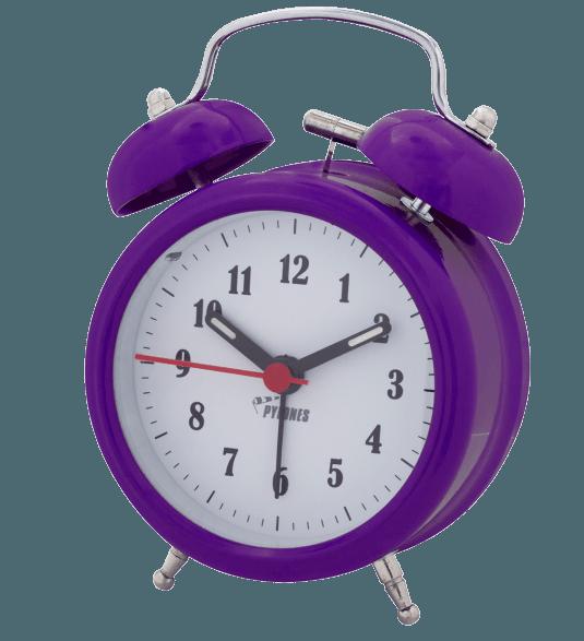 Colortime alarm pylones wake. Clock clipart purple