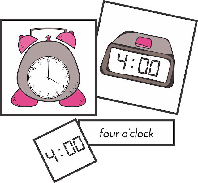 Clipart clock quarter past. Telling time by the
