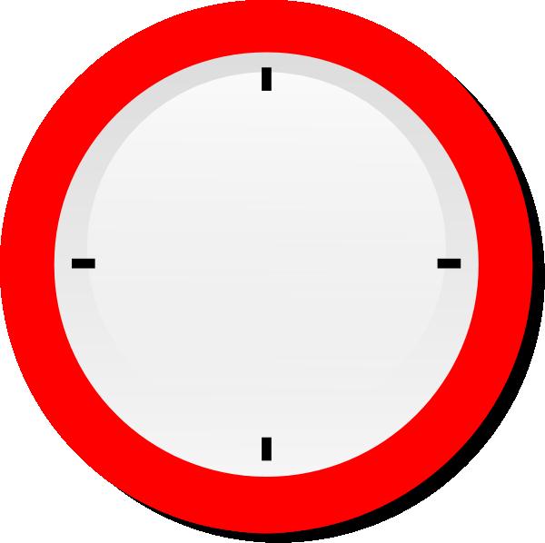Clocks clipart red. No hands modern clock