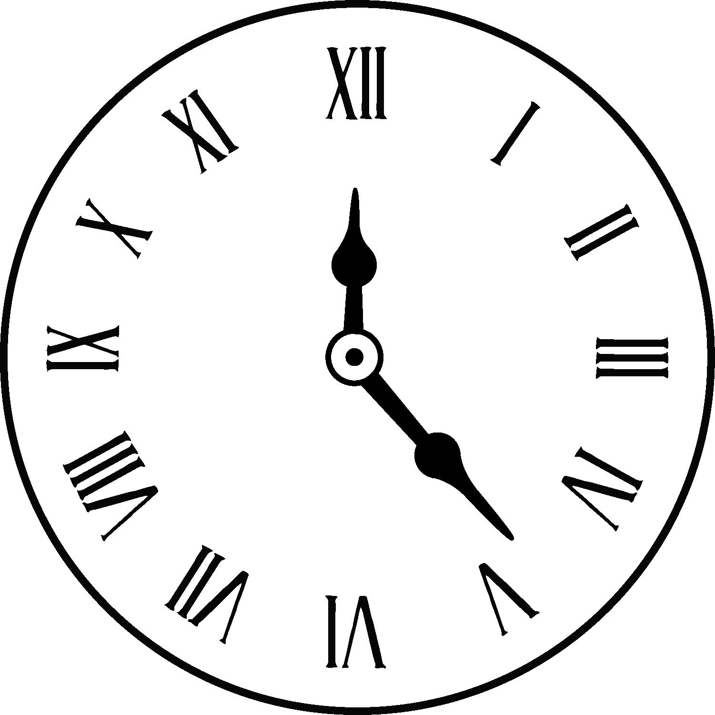 Clipart Clock Roman Numerals  Clipart Clock Roman Numerals
