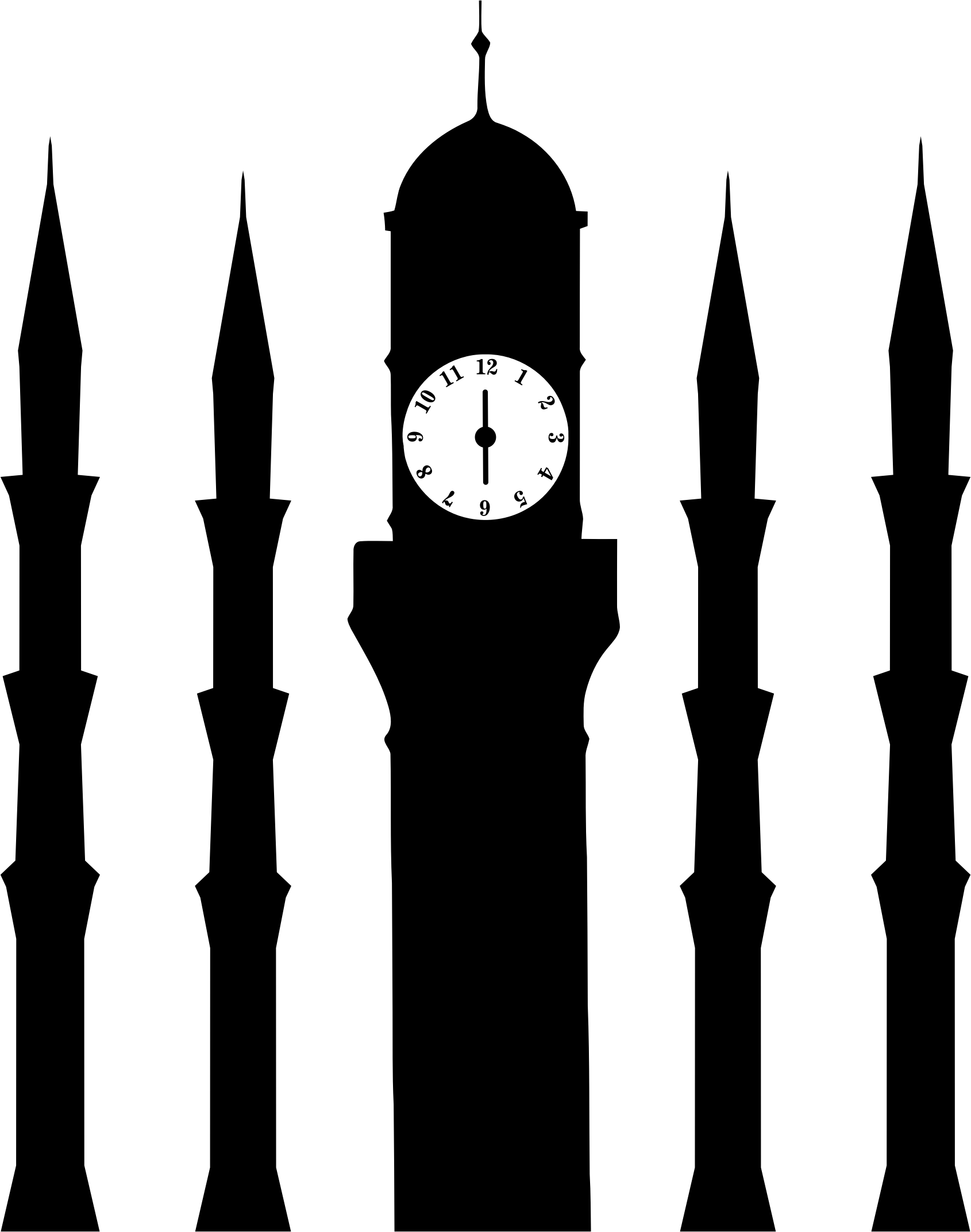 clocks clipart silhouette