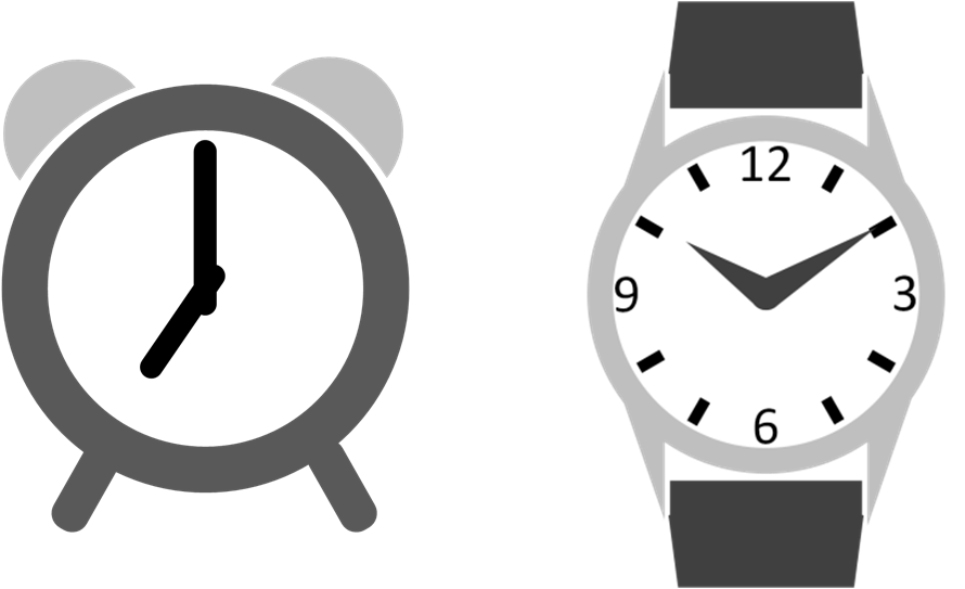 Drawing in clock icons. Stopwatch clipart powerpoint