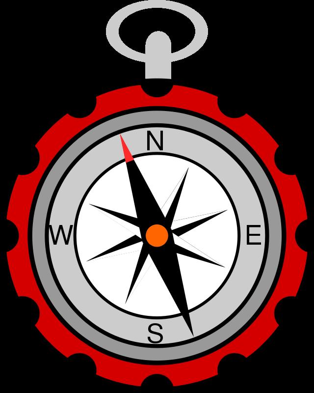 Compass clipart compass needle. Cartoon campfire scene panda