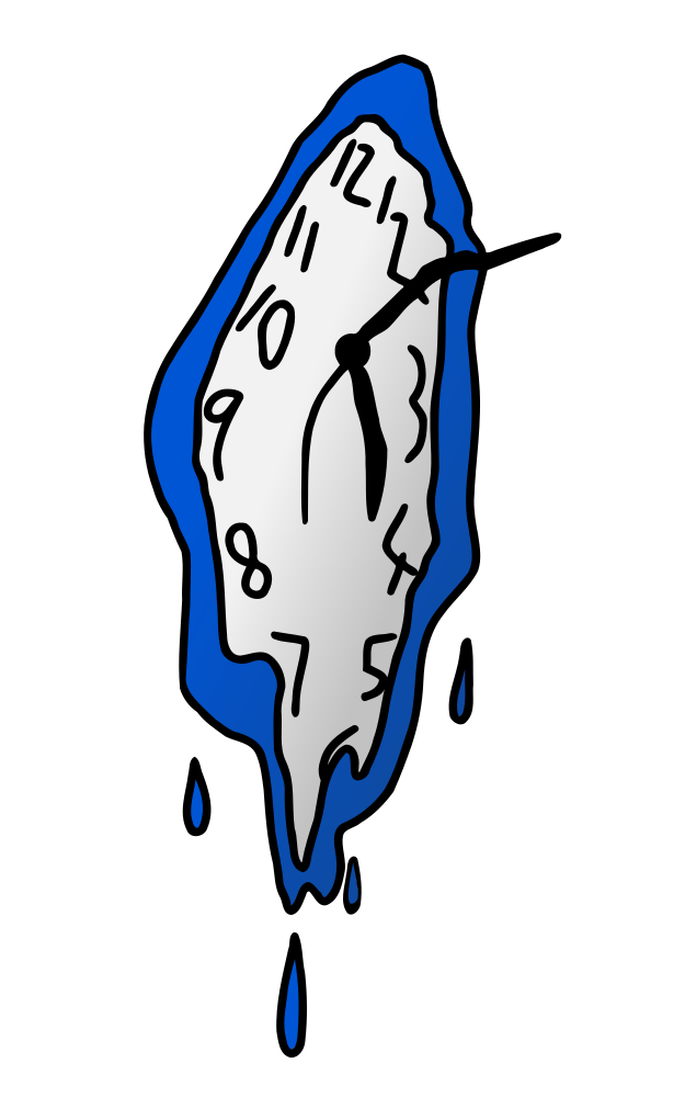 Melting pinterest hand drawn. Tired clipart clock