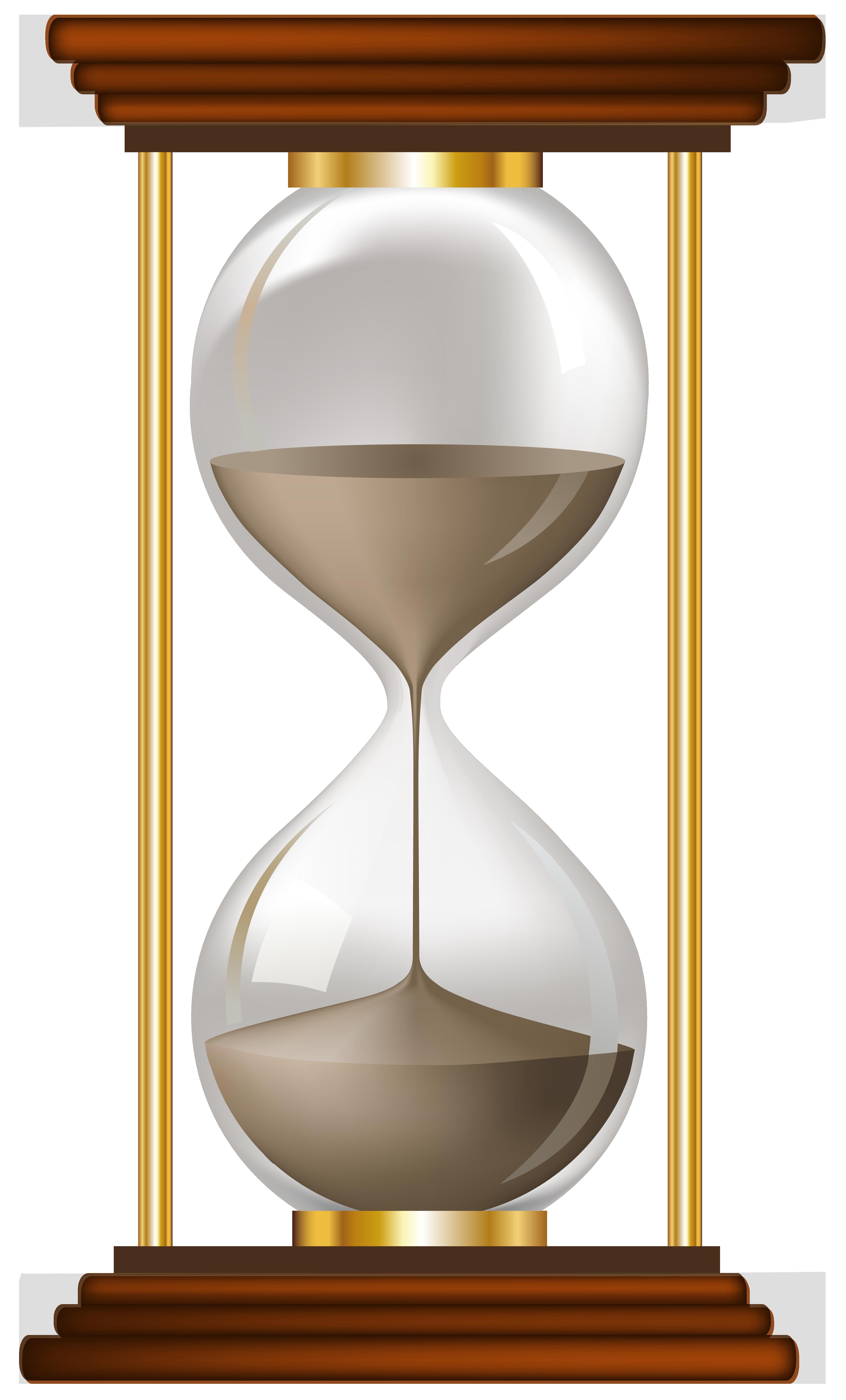 hourglass clipart empty