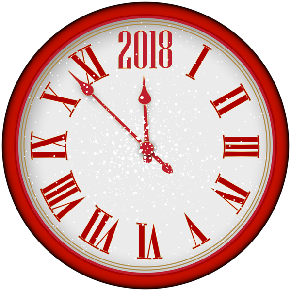 Clock clipart school.  new year red