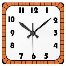 Clock clipart square. Black and white shape