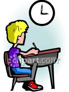 Picture of watching the. Clipart clock student