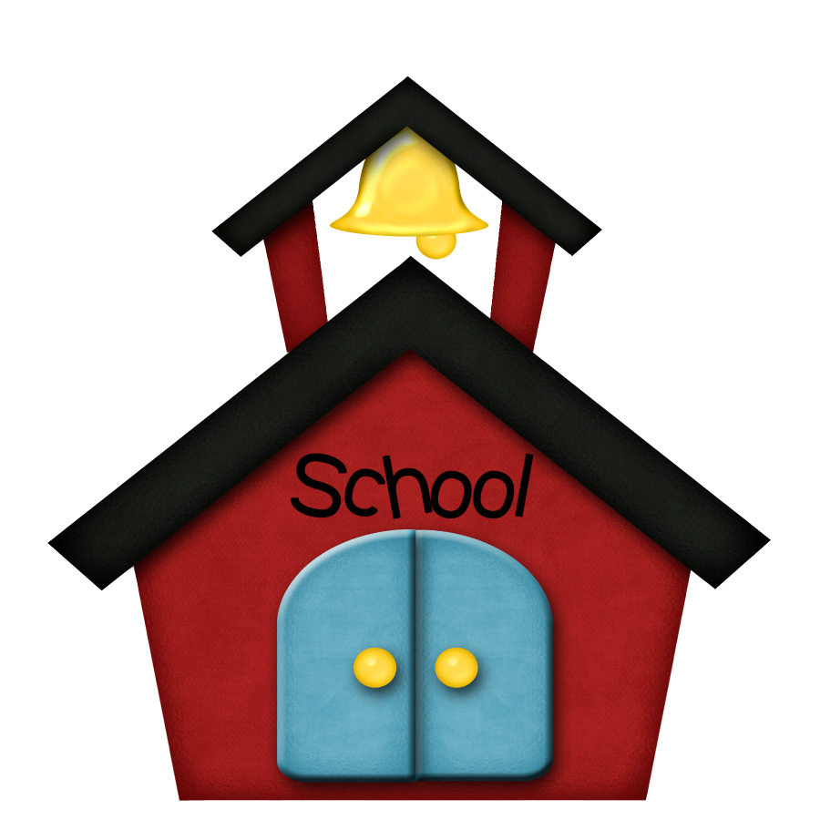First day of school. Clipart clock student