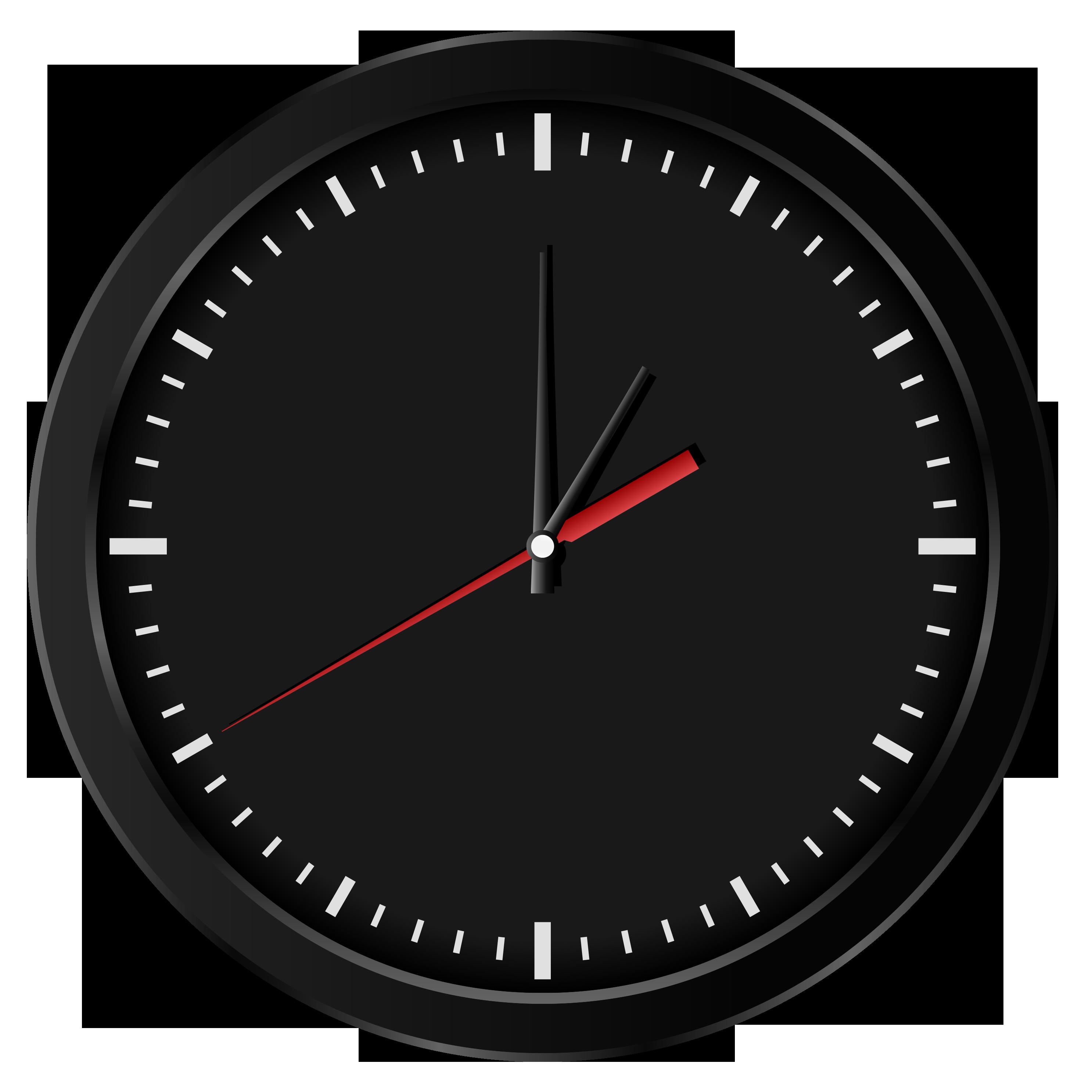 Black wall clockpng clip. See clipart watch clock