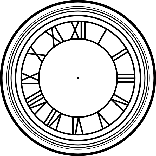 Clock clipart vector. Roman numeral face clip