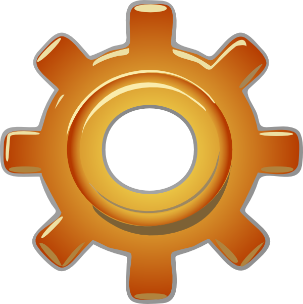 Single gear clip art. Wheel clipart mechanical