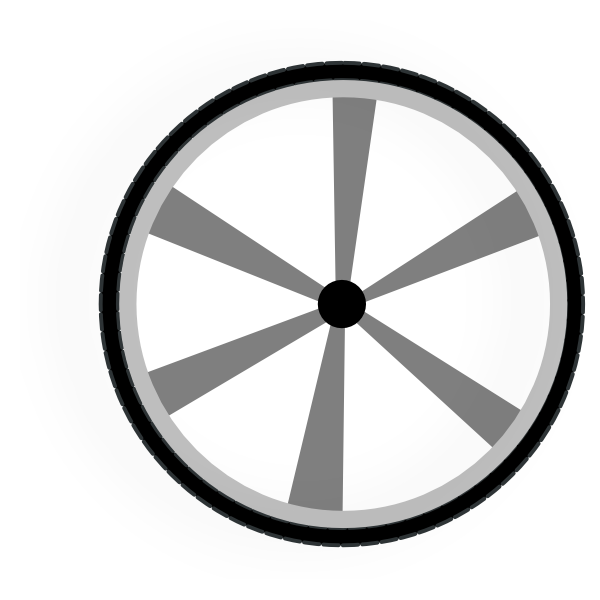 Clock clipart wheel. Wagon gray clip art