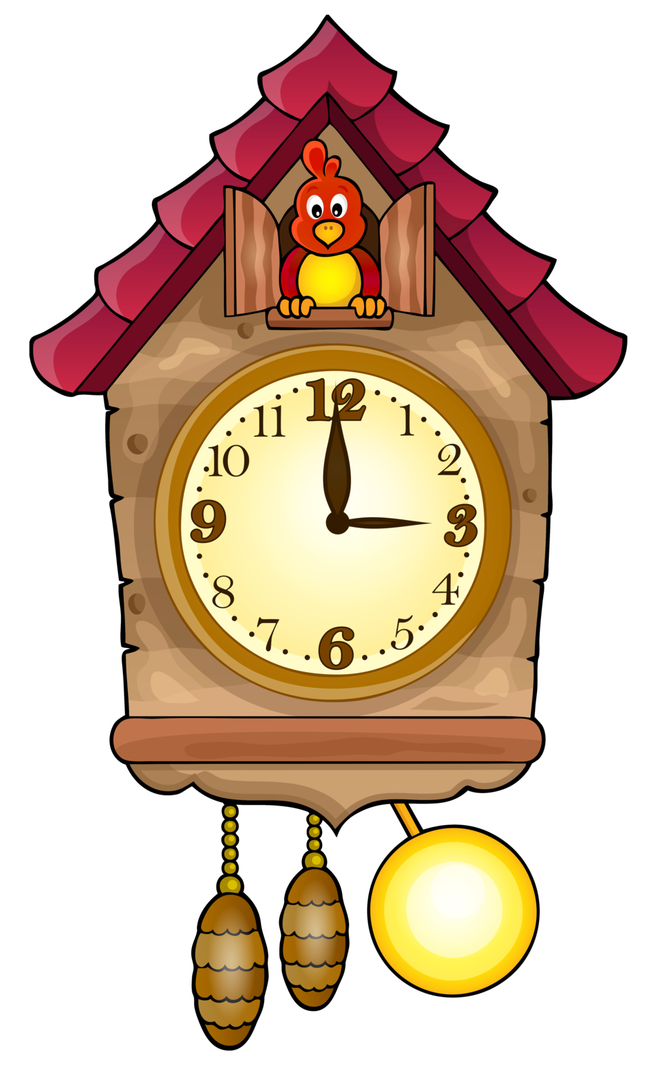 Cute cuckoo clock png. Clocks clipart old fashioned