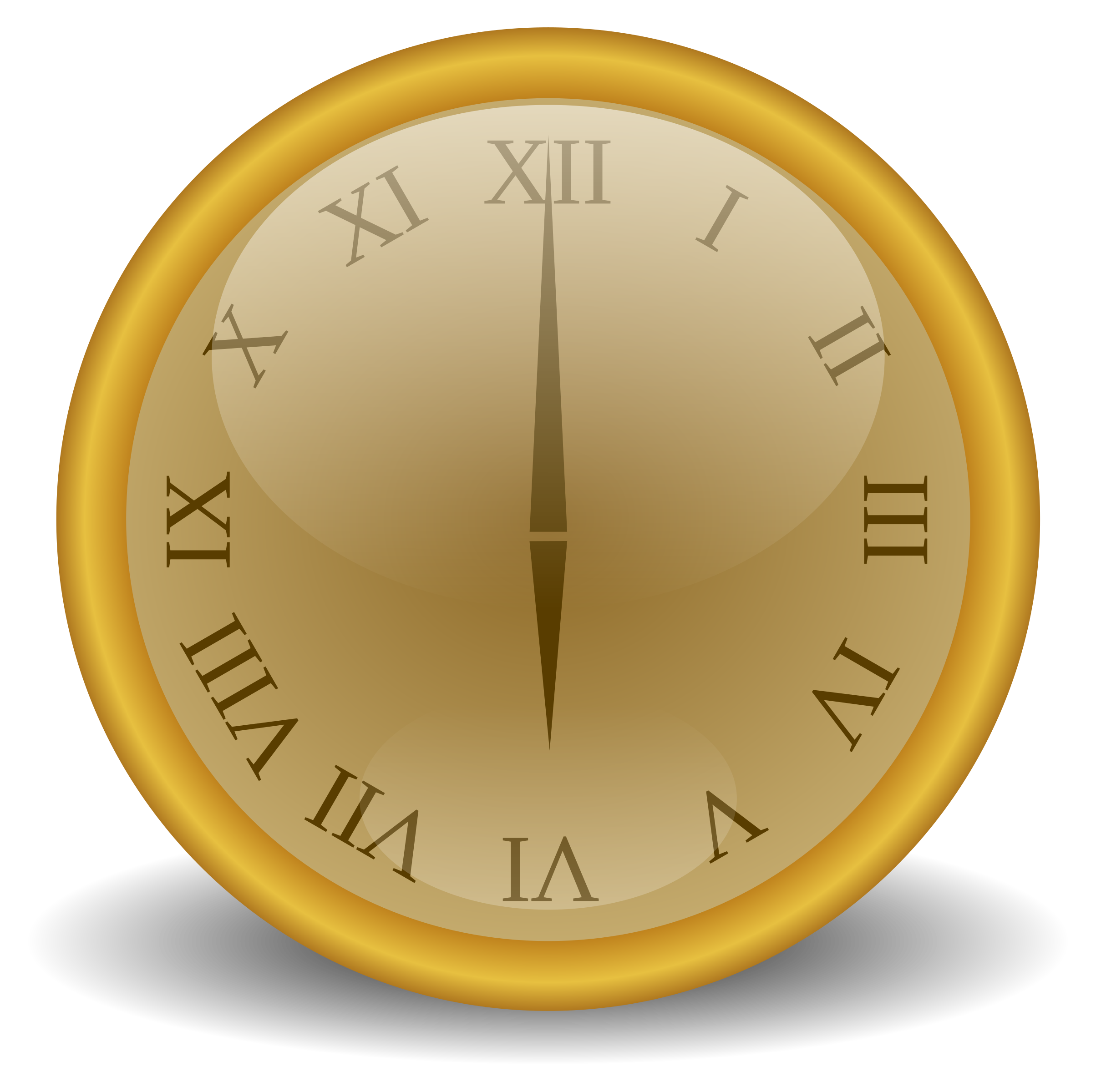 Golden big image png. Square clipart brown clock