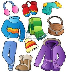 Clip art winter clothin. Clipart clothes