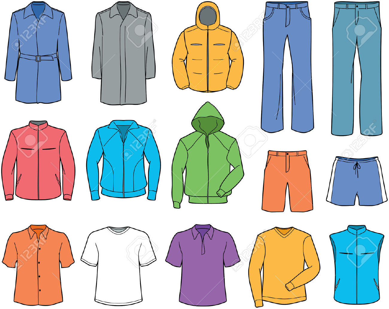 Informal . Clipart clothes
