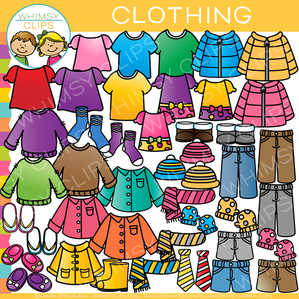 Clothing clip art images. Clothes clipart