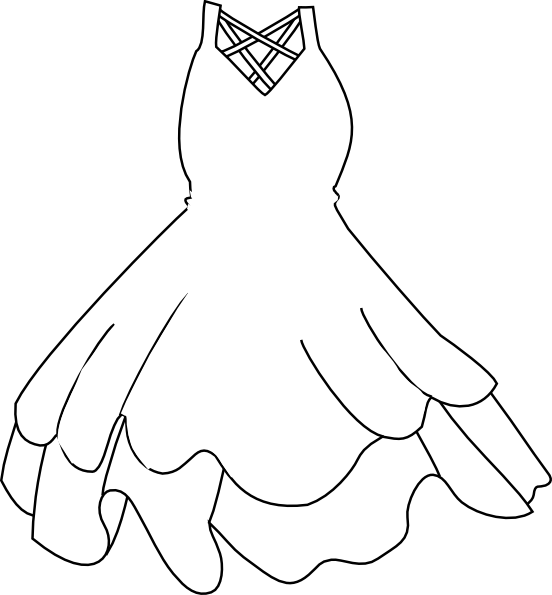 White dress clip art. Queen clipart clothes