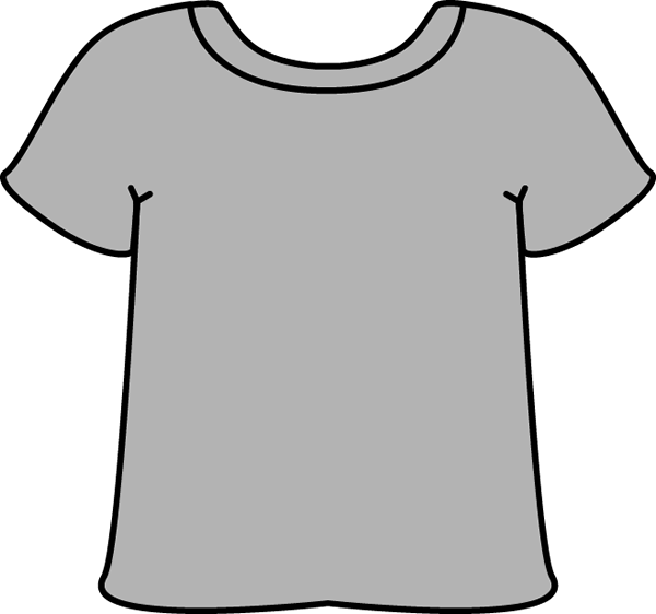 Clothing black and white. Shirts clipart cartoon