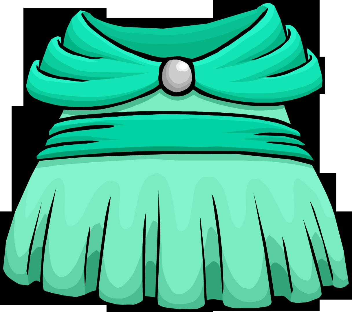 Clothing clipart green clothes. Seafoam dress club penguin