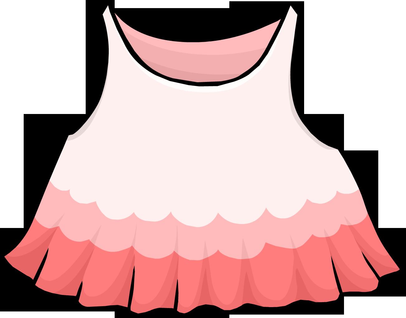 Clothing clipart pink dress. Club penguin wiki fandom