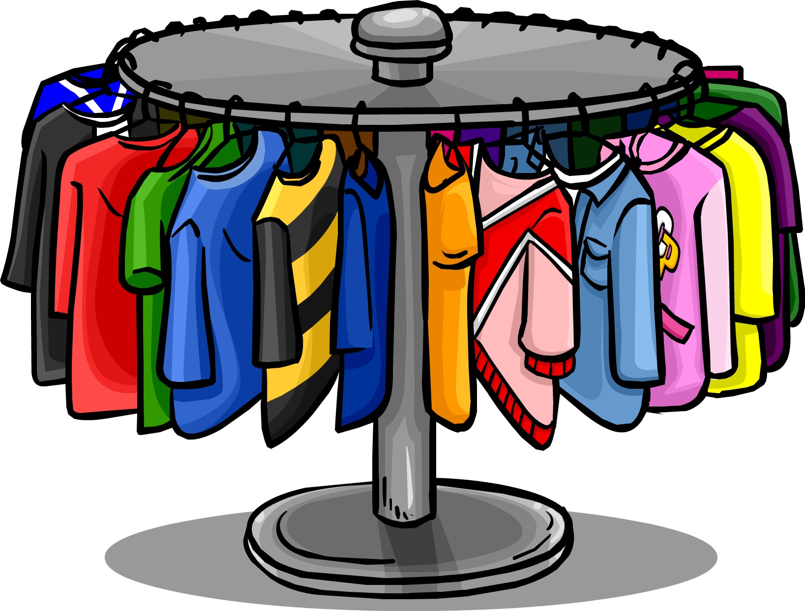 Furniture clipart wardrobe. Clothes rack club penguin
