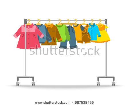 Collection of free sale. Clothing clipart closet full clothes