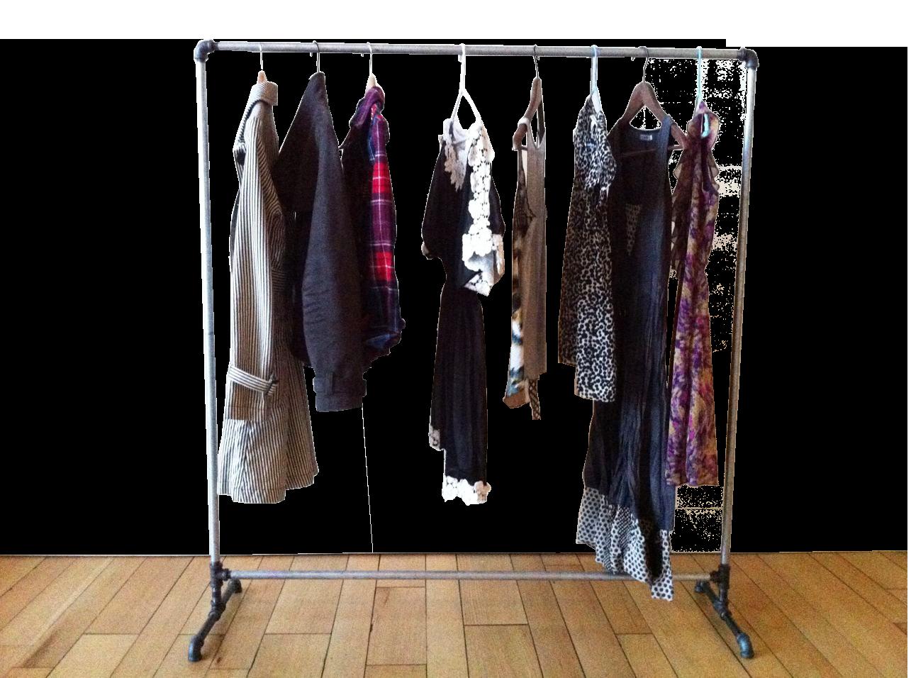 Clothing clipart clothing rack. Veev blog wardrobe management