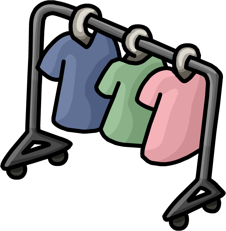 Clothing clipart clothing rack. Image town png club