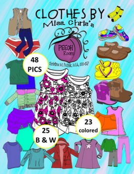 Color bw pics total. Clothing clipart colorful clothes