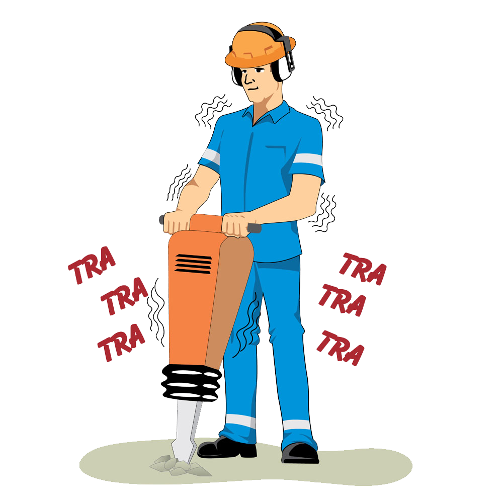 Jackhammer architectural engineering construction. Working clipart laborer