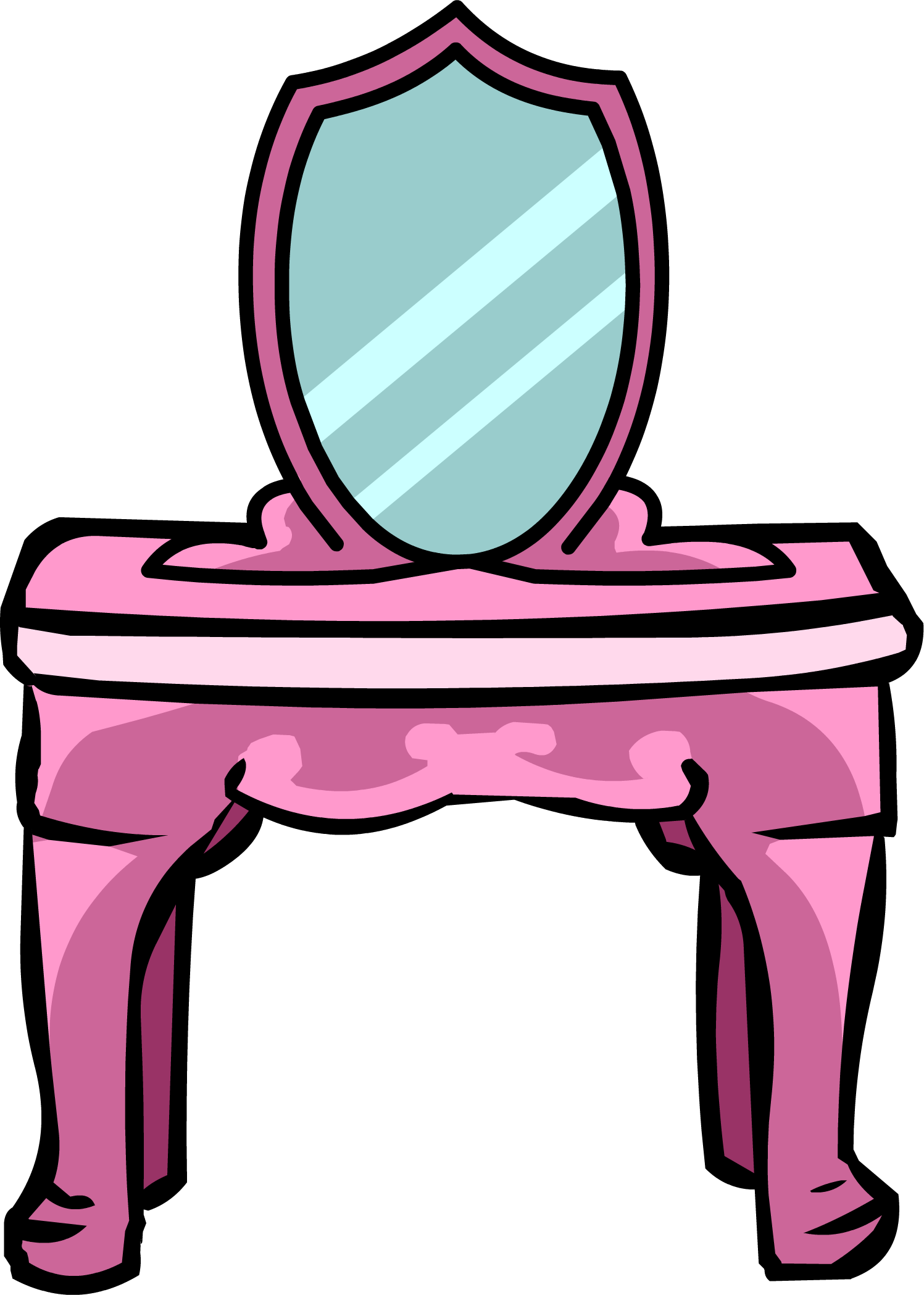 Princess club penguin wiki. Furniture clipart vanity table